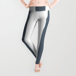 Black coral grey - solid color - white vertical lines pattern Leggings