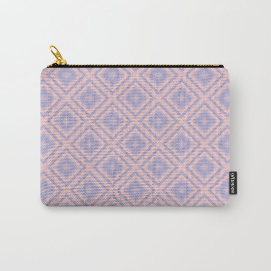 Starry Tiles in Rose Quartz and Serenity Carry-All Pouch
