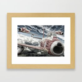 ASCUA aerobatic team Framed Art Print