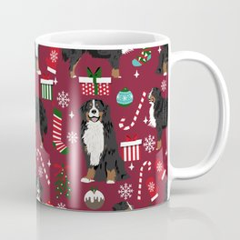 Bernese Mountain Dog christmas dog breed gifts mittens stockings presents candy canes Coffee Mug