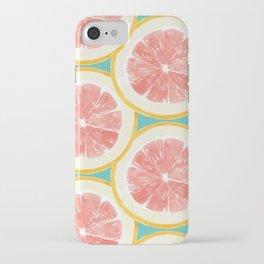Grapefruit Pattern iPhone Case