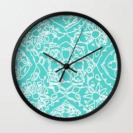 Isola Signature Print Aqua Wall Clock