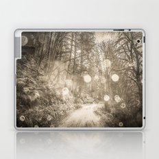 Forest Path - Vintage Sepia Magical Nature Trail Laptop & iPad Skin