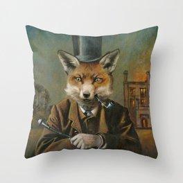 The Dapper Fox Throw Pillow