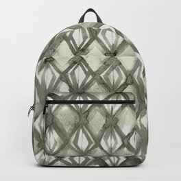 Braided Diamond Simply Green Tea on Lunar Gray Backpack