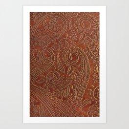 Rusty Tooled Leather Kunstdrucke