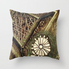 Earth . Flower . Strings Throw Pillow