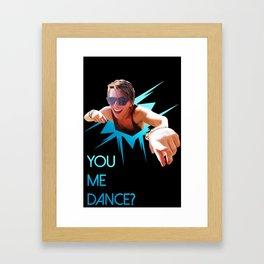 You me dance? Framed Art Print