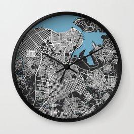 LA HABANA Map Cuba | Black | More Colors, Review My Collections Wall Clock