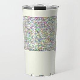 South Dakota map Travel Mug