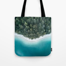 Green and Blue Symmetry - Landscape Photography Tote Bag