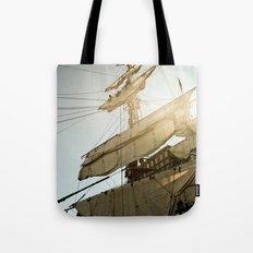 Tall Ship in Boston Harbor Tote Bag