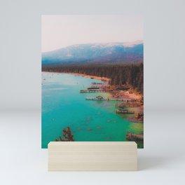 Boats on the lake at Lake Tahoe Nevada USA Mini Art Print