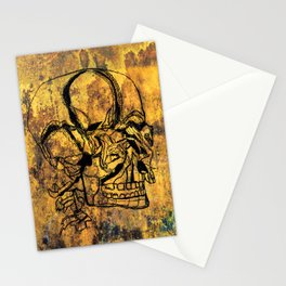 Crushed Skull Drawing Stationery Cards
