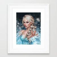 elsa Framed Art Prints featuring Elsa by Fernanda Suarez