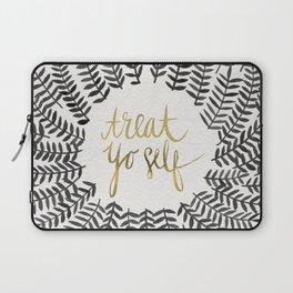Treat Yo Self – Black & Gold Laptop Sleeve