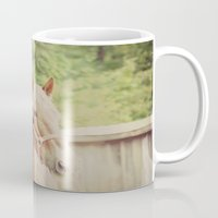 scripture Mugs featuring Job 39: 19 Horse Scripture by KimberosePhotography