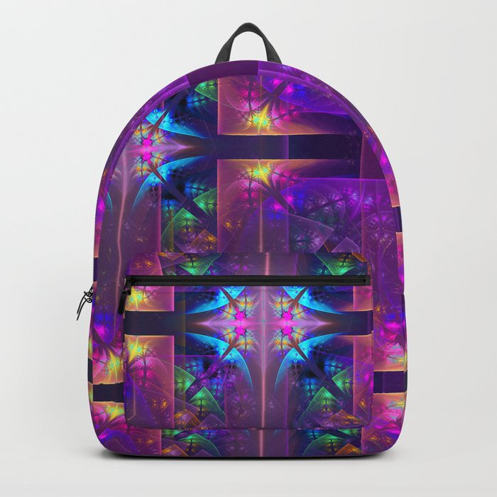 Colourful magic, fractal pattern abstract Backpack