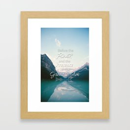 The Great I Am Framed Art Print