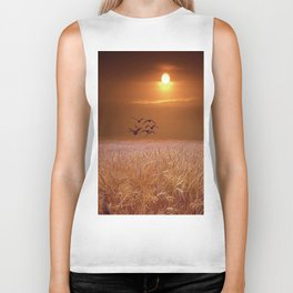 bird and yellow Biker Tank
