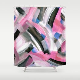 Crossing Pink Shower Curtain