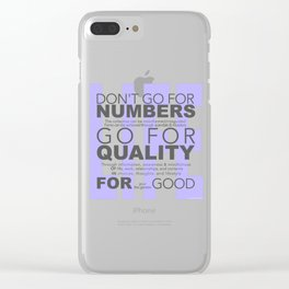 Don't go for #s go for Quality Clear iPhone Case