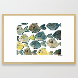 Blue Tang Framed Art Print