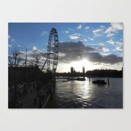 View of the Thames Canvas Print