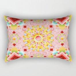 Pink Paisley Sunshine Rectangular Pillow