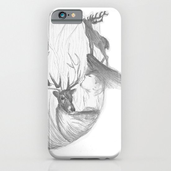 Stag and man iPhone & iPod Case