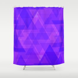 Bright purple triangles in intersection and overlay. Shower Curtain