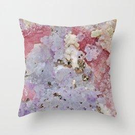 GOLD FLECKED ROSE QUARTZ #2 Throw Pillow