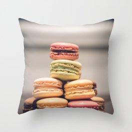 Macaron Delights Throw Pillow