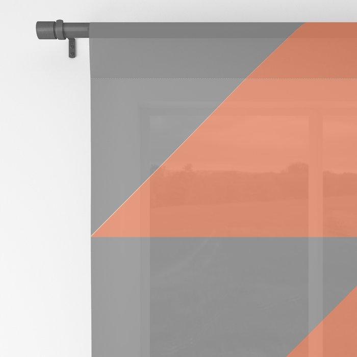 Orange Angles Sheer Curtain