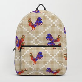 Rooster Pattern Backpack