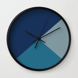 Retro Blue Tones Wall Clock