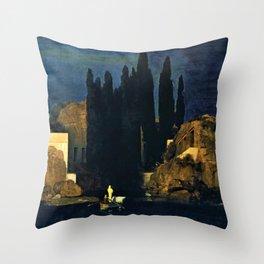 Island Of The Dead - Arnold Bocklin Throw Pillow