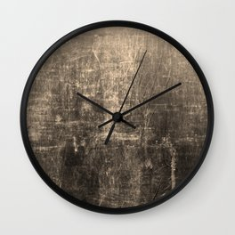 Gold Crinkled Paper Wall Clock