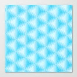 Blue Triangles Canvas Print