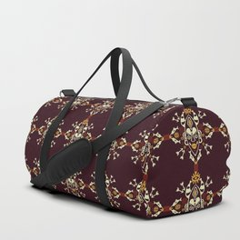 African Tribal mask ethnic on dark Duffle Bag