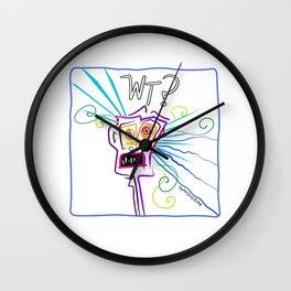 WHAT THE ?? EMOJI Meemogie Art Wall Clock