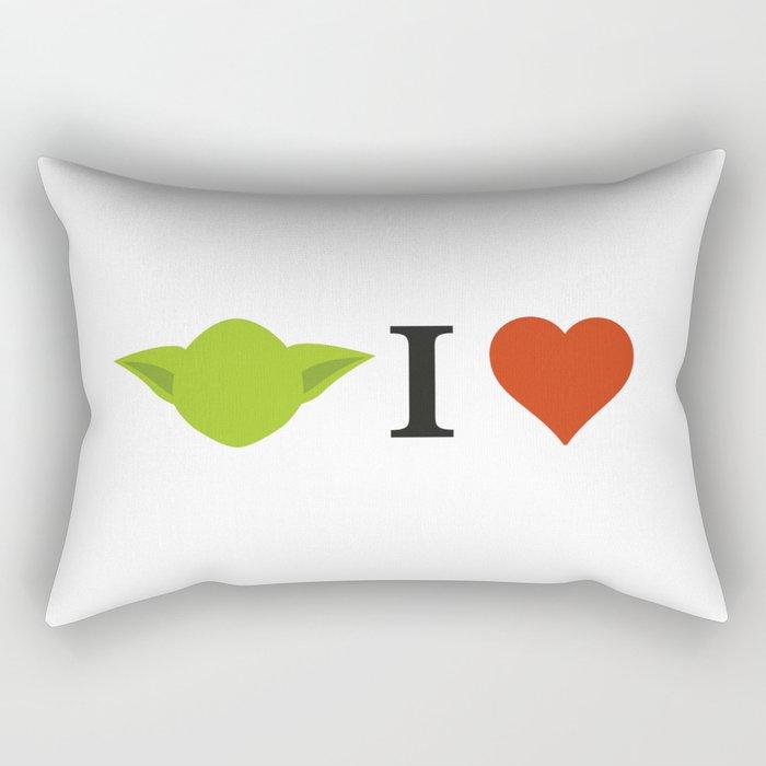 Yoda I Love Rectangular Pillow