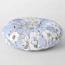 White rosehip Floor Pillow