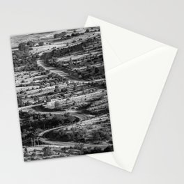 Winding and twisting road in Fort Davis Texas Stationery Cards