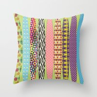 surfing Throw Pillows featuring Surfing? by DesignsByMarly