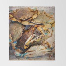 Blue Crabs Throw Blanket
