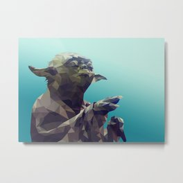 Luminous Beings (Yoda) Metal Print