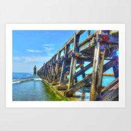 Capbreton Bay Art Print