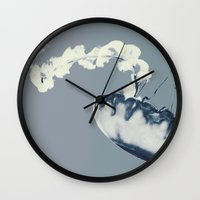blur Wall Clocks featuring blur by kendall bixler