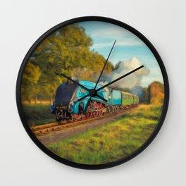 Mallard Steam Locomotive Wall Clock